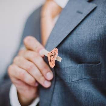 Anstecker Namen Hochzeit Herz