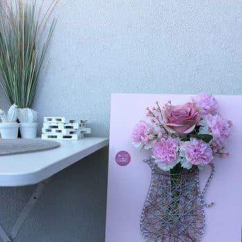 Fadebild Blume Vase