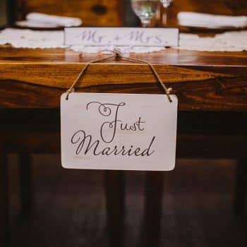 Just married Deko Mr+Mrs