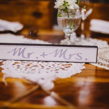 Mr.Mrs. Schild Hochzeitstisch