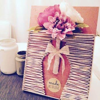 Nagelbild Blumen Made-with-love Geschenk