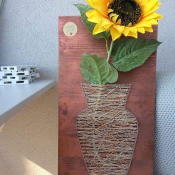 Nagelbild Fadenbild Blume