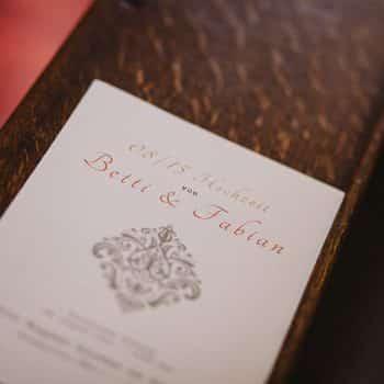 Programm Hochzeit Kirche Trauung