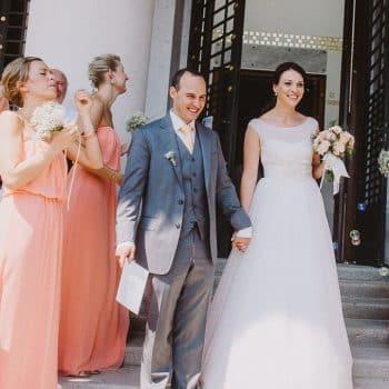 Vermählung Kirche Brautpaar